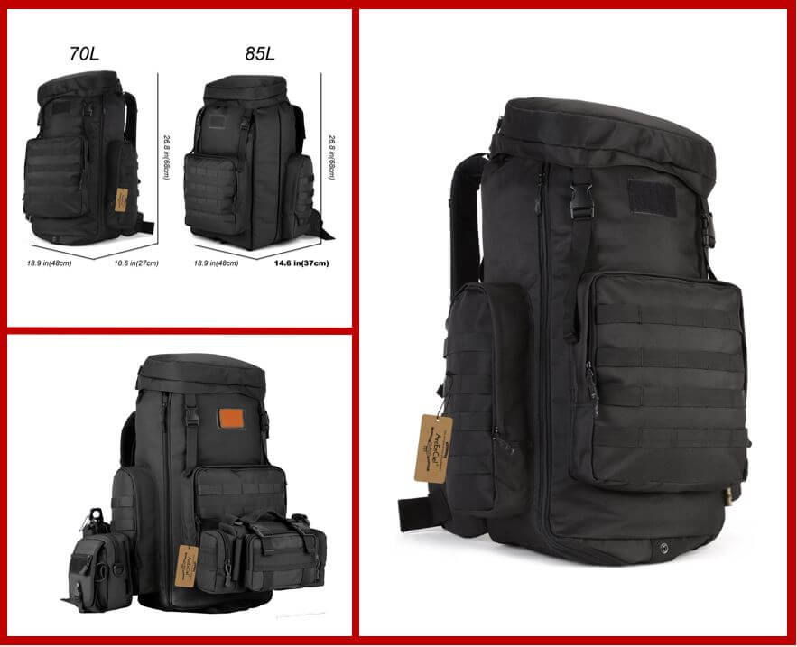 ArcEnCiel Tactical Travel Backpack