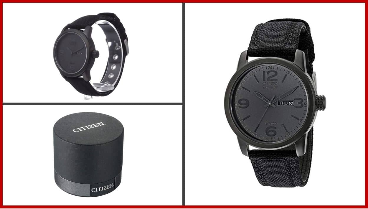 Citizen Eco-Drive Black Ion-Plated Watch