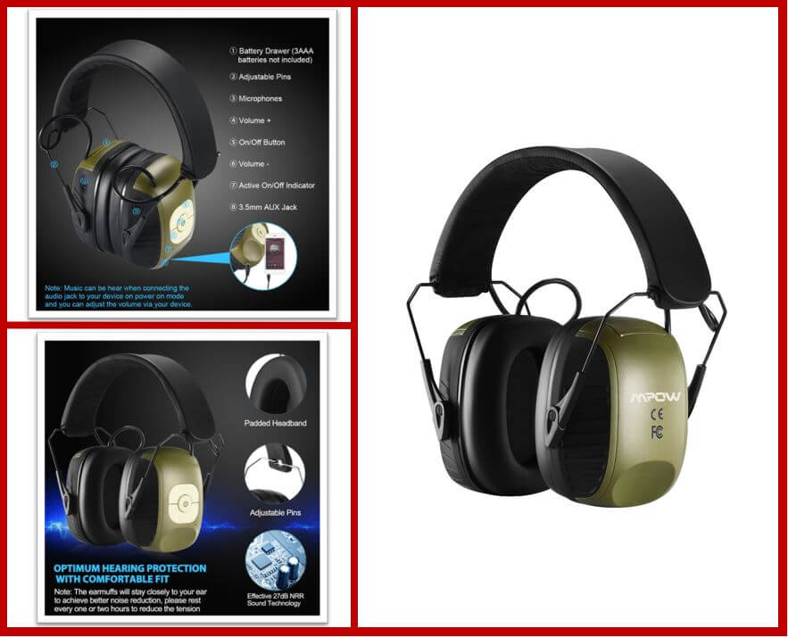 MPOW Electronic Ear Protection Earmuff
