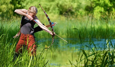Aiming with recurve bow