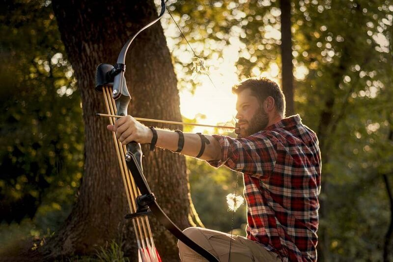 aiming with a recurve bow
