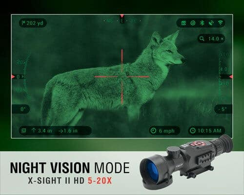 adding night vision to a scope