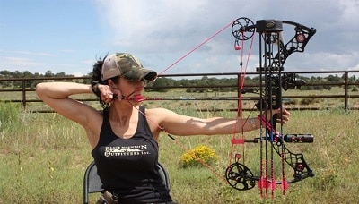 Hunting bow hand orientation