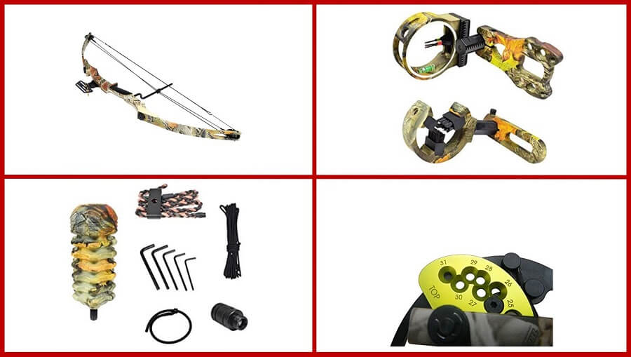iGlow 55 lb Camouflage Archery Hunting Compound Bow